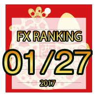 FX無料EA人気ランキング 2017年01月27日配信