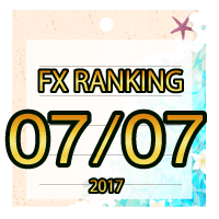 FX無料EA人気ランキング 2017年07月07日配信