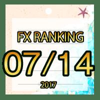 FX無料EA人気ランキング 2017年07月14日配信