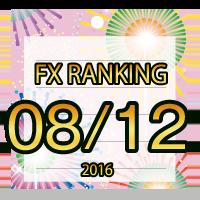 FX無料EA人気ランキング 2016年08月12日配信