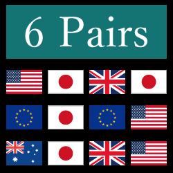 6種類の通貨ペア取引